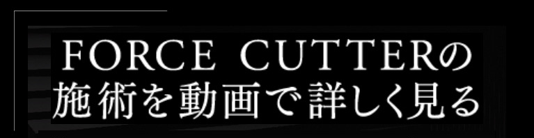 FORCE CUTTERの施術を動画で詳しく見る